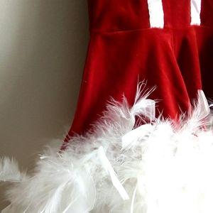 🔥Santa Mini Dress Costume - Red Velvet 🔥